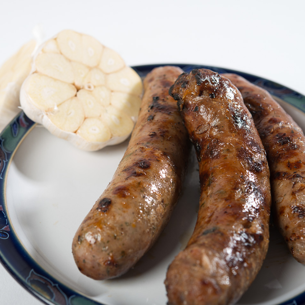 British Pork And Garlic handmade Sausages