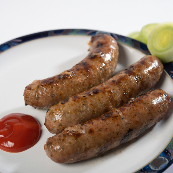 Handmade Pork And Leek Sausages