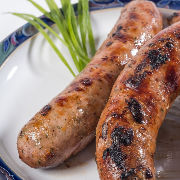 British Pork And Chive Handmade Sausages
